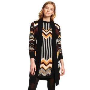 Missoni Target 20th Zig Zag open cardigan sweater
